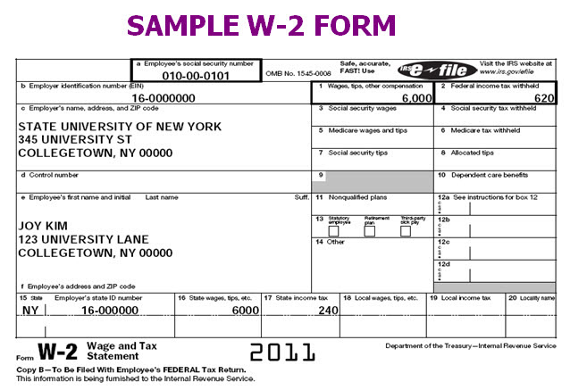 Image result for IRS W-2 Tax Form