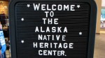 We spent about 3 hours in Alaska Native Heritage Center