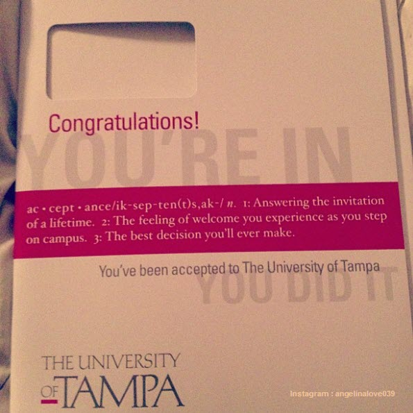Awesome College Acceptance Letters Shared In Instagram