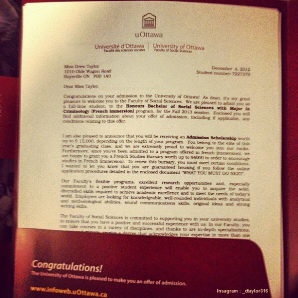 11 Awesome College Acceptance Letters Shared In Instagram