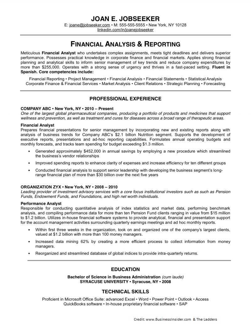 resumes for experienced professionals