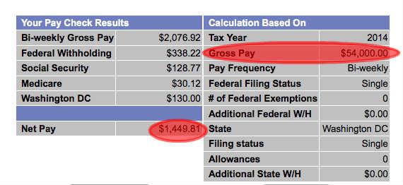 sample biweekly paycheck