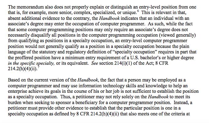 computer programmer uscis memo h1b visa