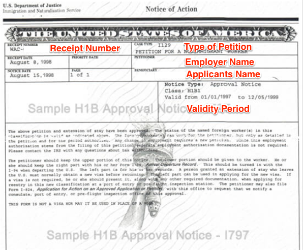 I797A vs I797B vs I797C (and D, E, F) - USCIS Approval Notice
