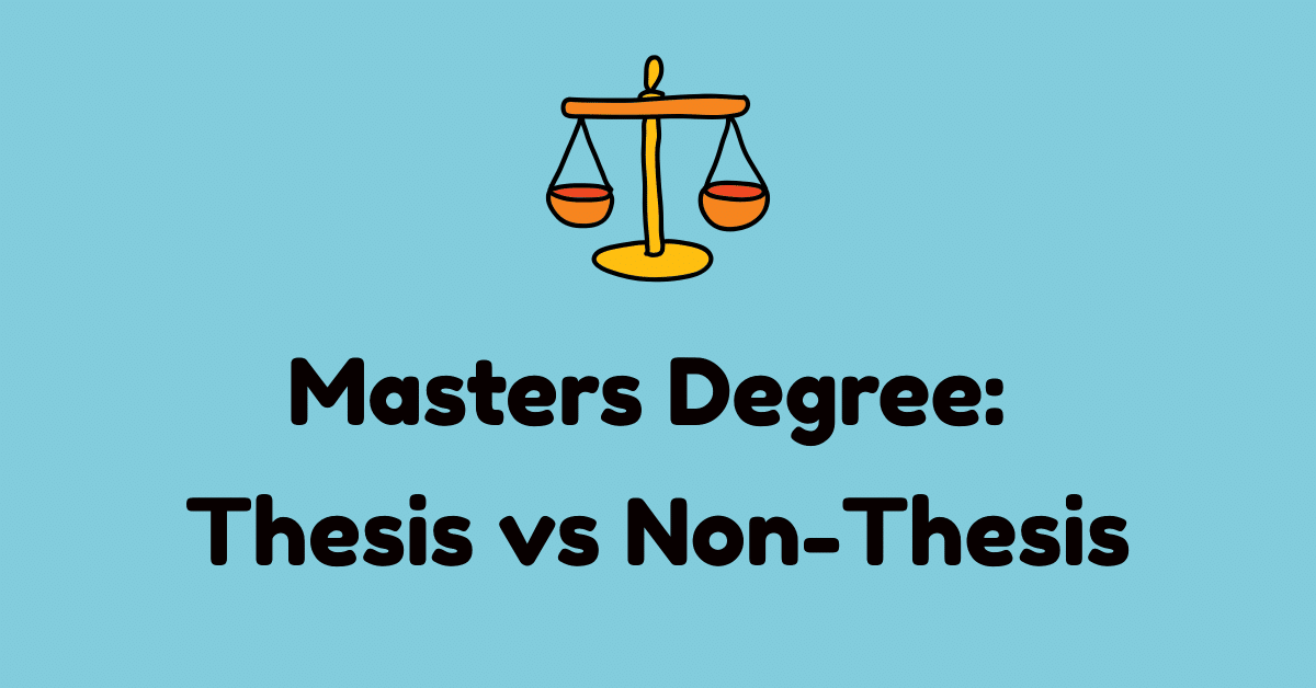 masters degree thesis vs non thesis option