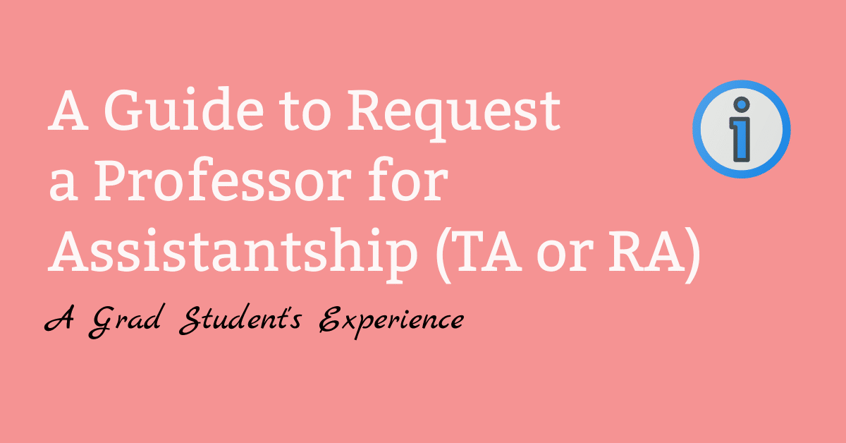 how to ask professor for assistantship