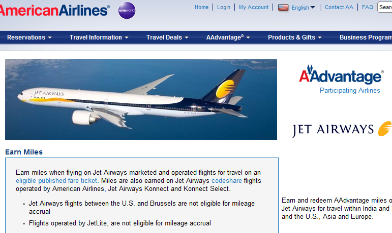 american airlines jet airways