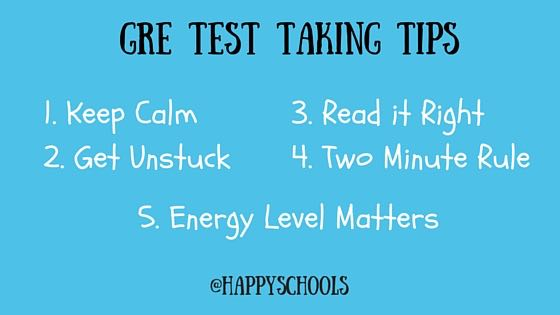 gre test taking tips