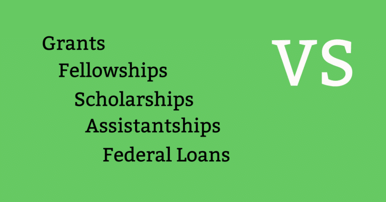 Types of Financial Aid – Assistantships,  Fellowships, Scholarships vs Grants
