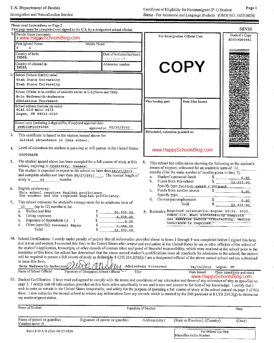 Sample I20 Utah State University