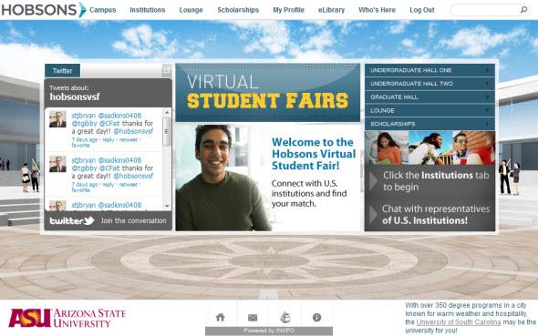 hobsons virtual college fair