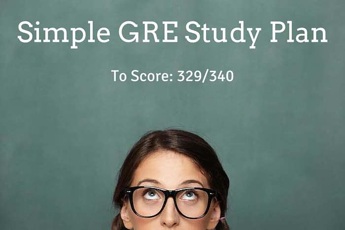 Simple GRE Study Plan