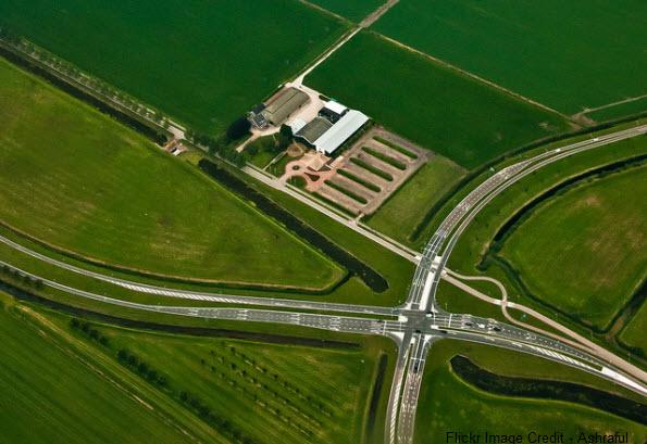 airplane farms view