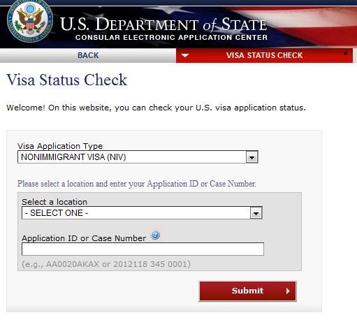 check usa visa status online - niv