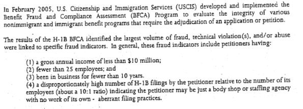 Uscis uses this checklist to identify h1b visa fraud h1b visa fraud spiritdancerdesigns Choice Image