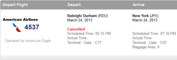 cancelled american flight