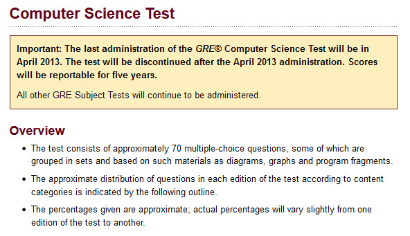 gre computer science subject test