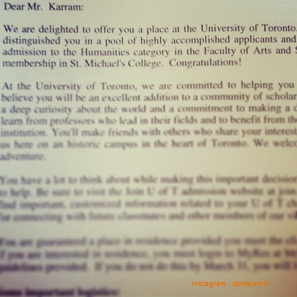 Calendar Uoft : Awesome college acceptance letters shared in instagram