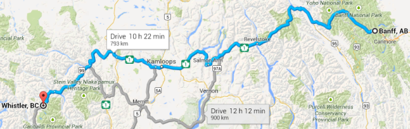banff to whistler one day drive