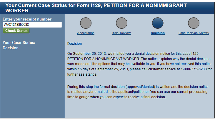 H1B Visa Approval Status and Steps for 2015
