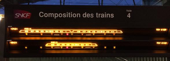 frane tgv train carriage locations