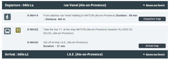 aixenbus route info