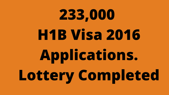 h1b visa 2016 lottery completed