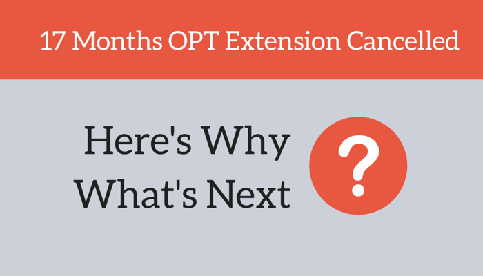 17 Months OPT Extension Cancelled
