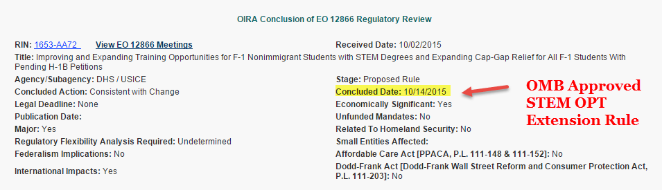 omb approved stem opt proposed rule