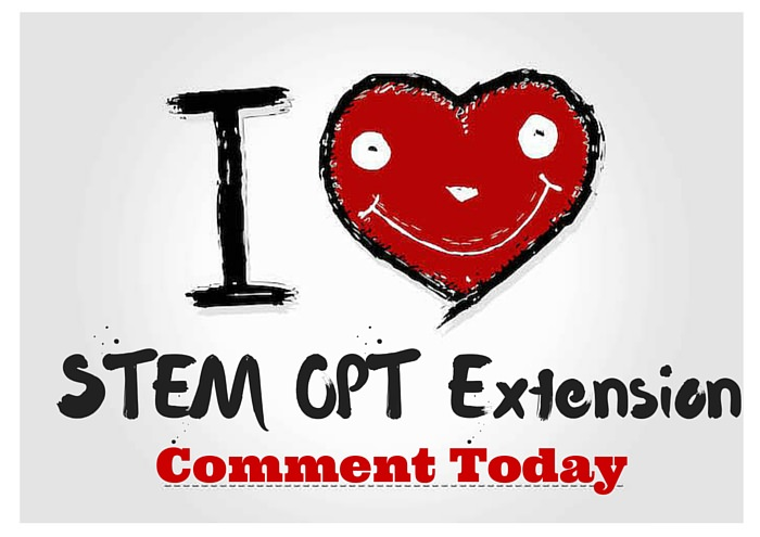 """""""I Love STEM OPT Extension Rule"""" – Template for Commenting"""