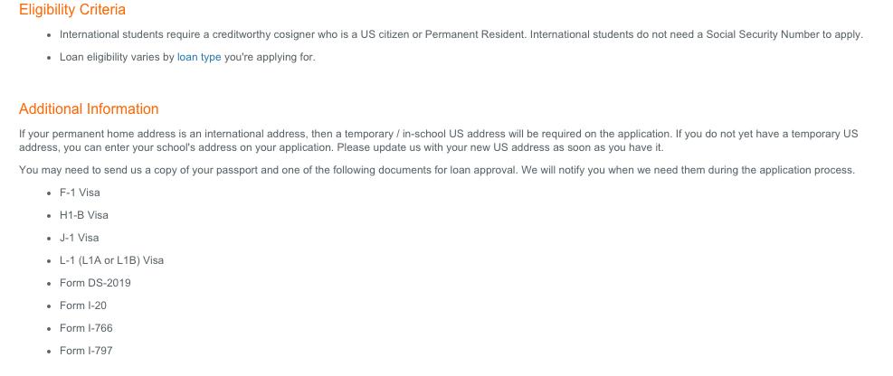 discover bank international students loan