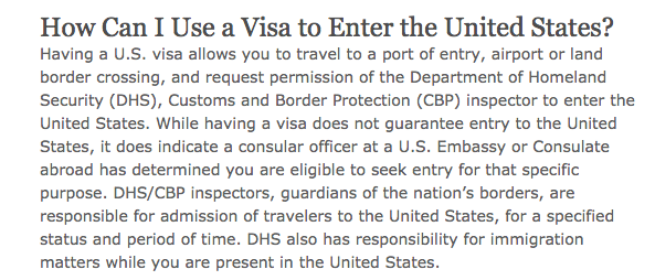 usa visa port of entry