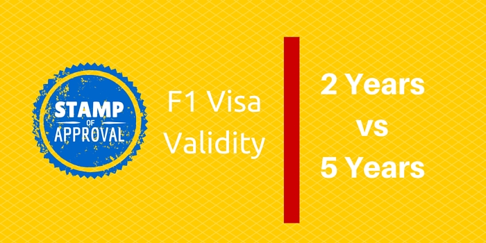 f1 visa stamp valid 2 vs 5 years