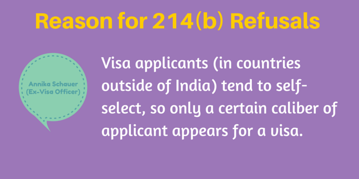 reasons for 214b usa visa rejections denials