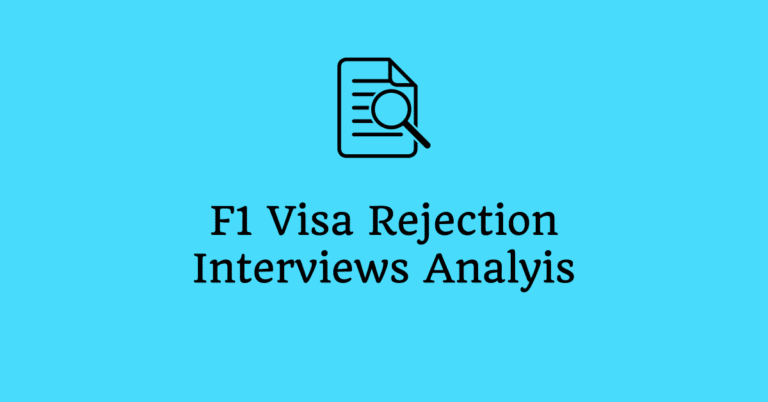F1 Visa Interview Experience – Fall 2019 – Review, Analysis and Lessons Learned