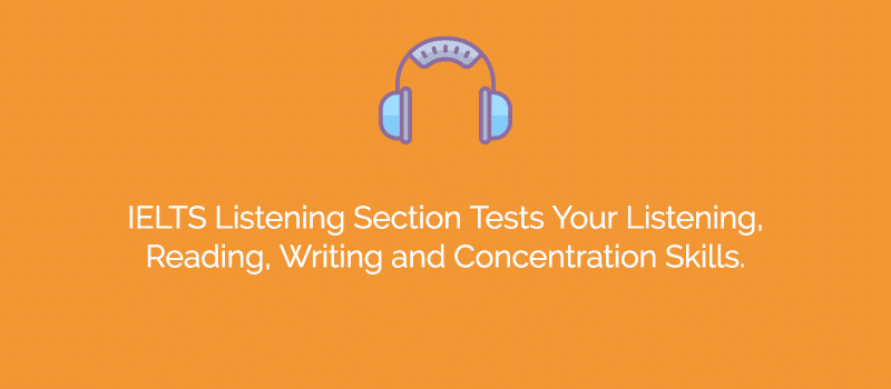 ielts listening section skills tested