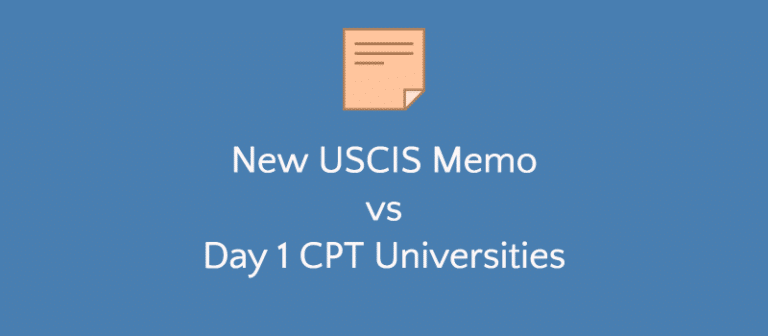 Impact: Day 1 CPT Universities vs New Unlawful Presence Memo