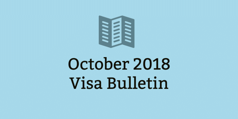 October 2018 Visa Bulletin Comes with Great News for EB2, EB3 India