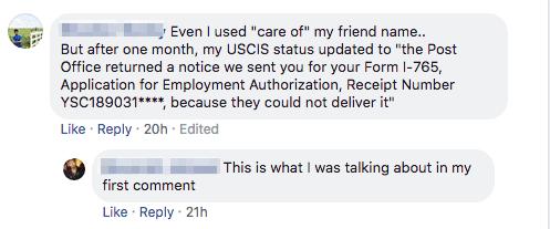 usps sem opt card could not deliver returned