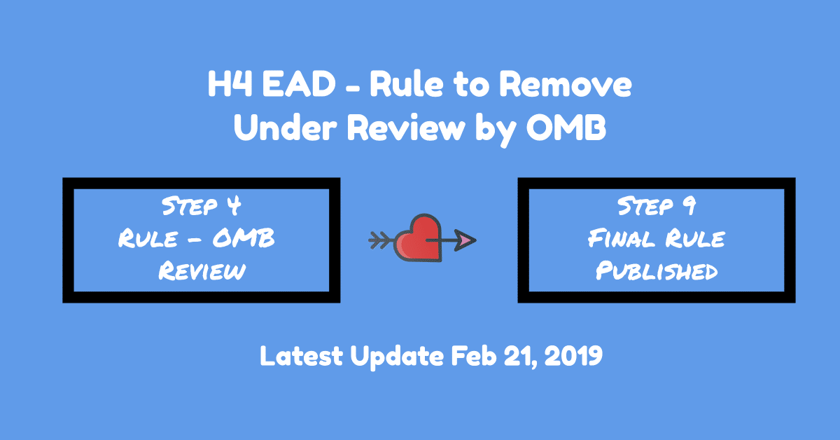 H4 EAD Rule: Submitted to OMB for Review - Feb 21, 2019
