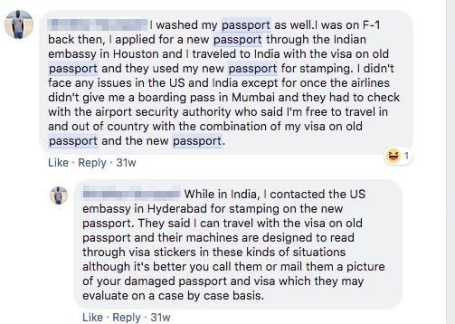 damaged passport with usa visa