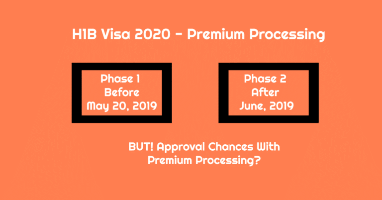 H1B Visa Premium Processing Available for FY 2020 Season in Two Phase. But, What About Approval Chances?