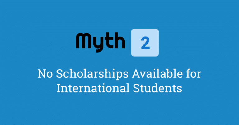 Myth 2: Scholarships Are Not Given to F1 Visa – International Students