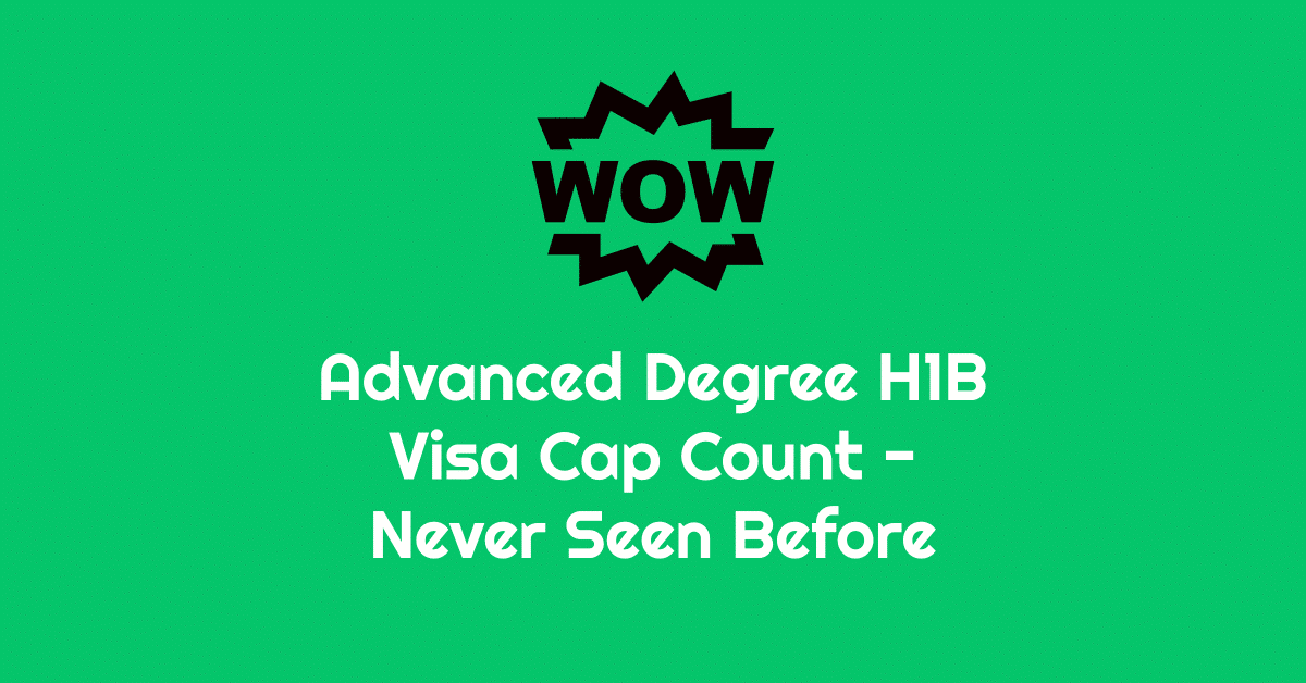 h1b visa cap count statistics regular and advanced degree historic data
