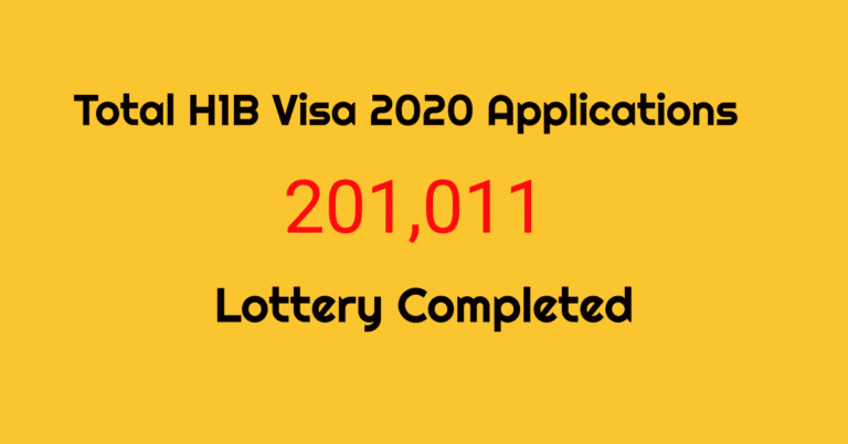 H1B Visa 2020  – USCIS Received 201,011 Application. Lottery Completed [Apr 11, 2019]