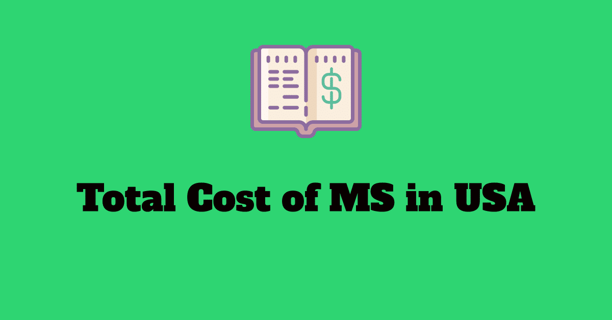 total cost of studying masters ms degree in the usa
