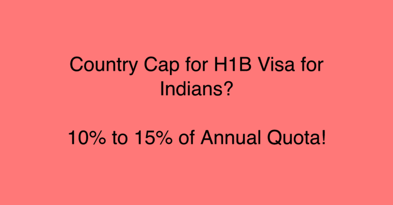 OMG! U.S. Plans to Add Country Cap to H1B Visa for Indians – 10% to 15% of Annual Cap
