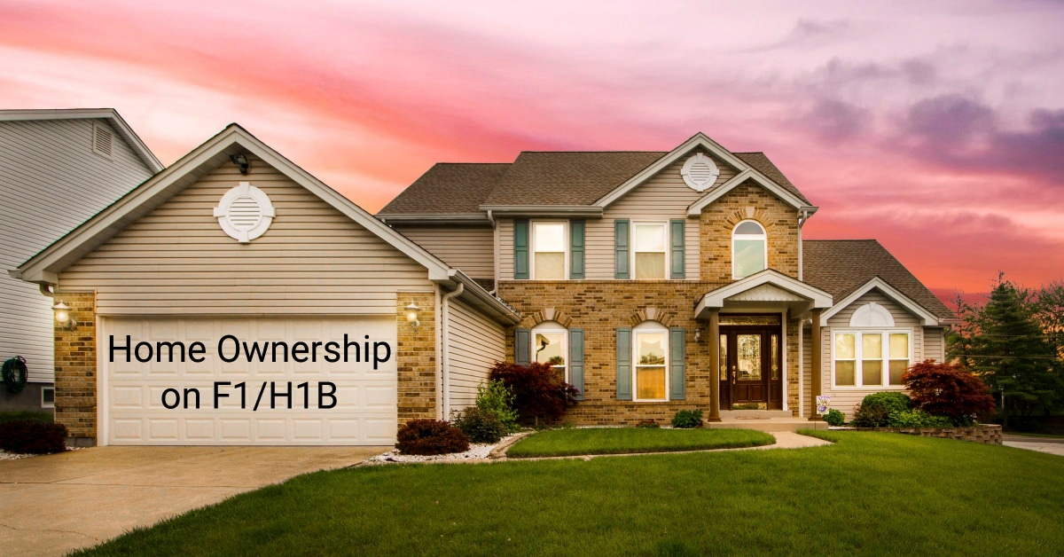 buying home ownership on h1b visa f1 visa