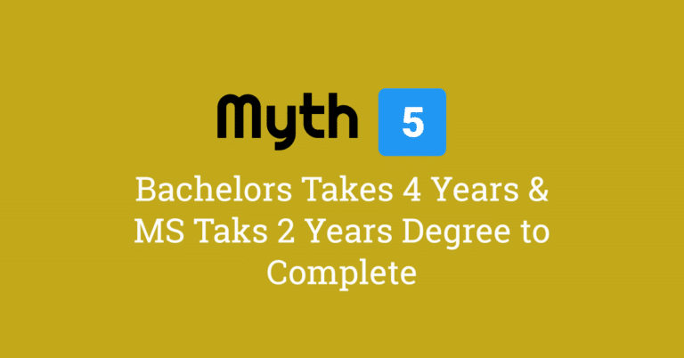 Myth 5 – Bachelors is 4 Years & Masters is 2 Years Program