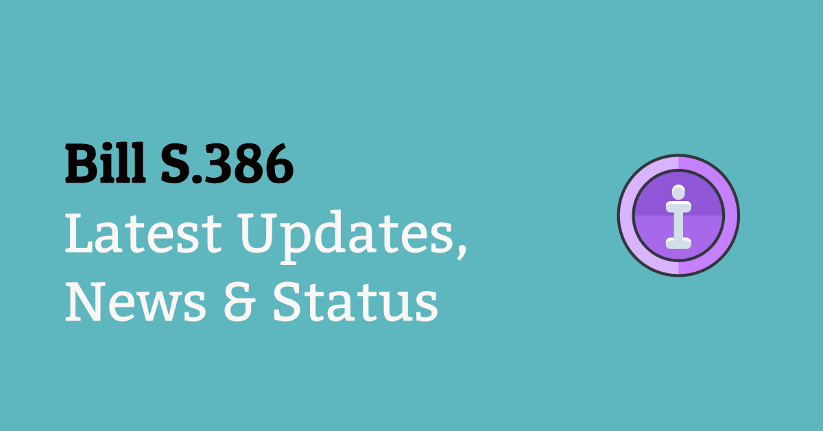 bill s386 latest news updates and status blocked